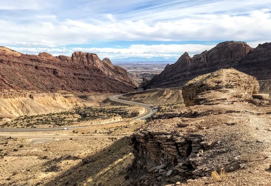 Utah rest stop overlook