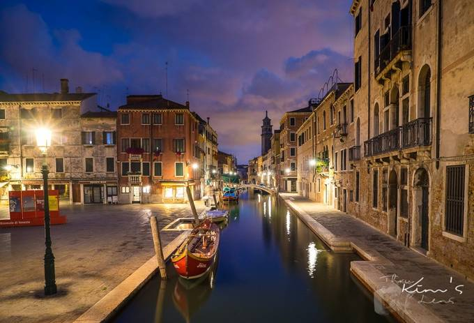 Night on the Canal by kimpassmore - Canals Photo Contest
