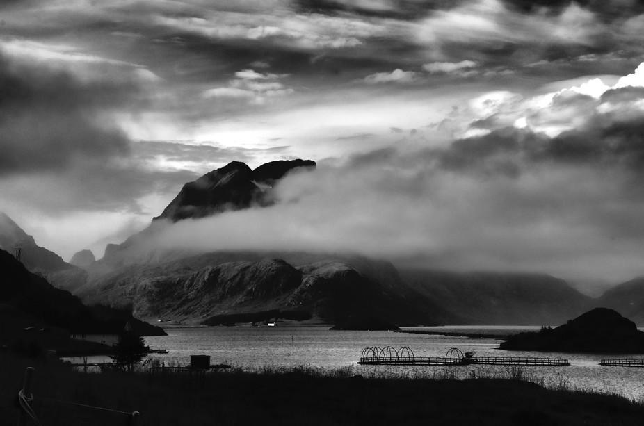 salmonfarm, Lofoten islands, Norway
