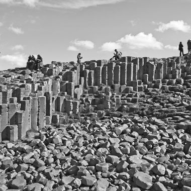 Me and my wife were in Ireland, in September 2017. This was one of the photos that I took at Giant's Causeway.