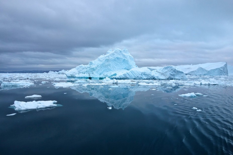 Iceberg at midnight, Greenland.