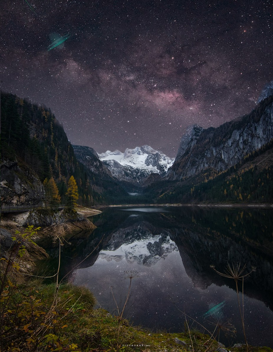 Alps under the cosmos.  by markfitzcastroborre - Creative Compositions Photo Contest Vol5