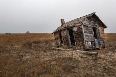 An old Bunkhouse in the Nebraska Sandhills