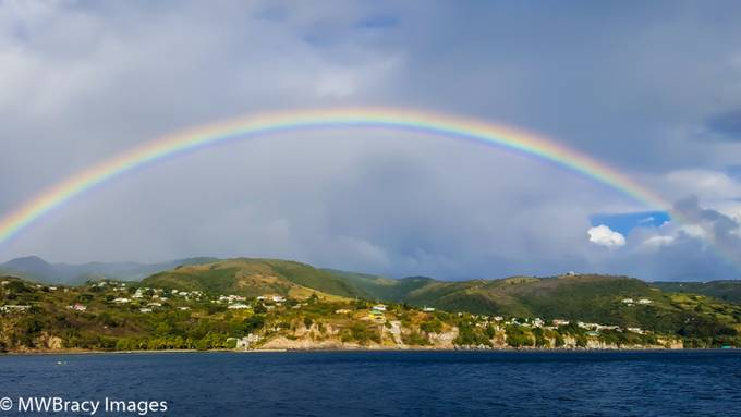 When one visits the island of Dominica you are treated to at least one rainbow every day.