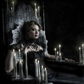 A Gothic styled portrait of a Lady, seated in her throne of melted candles model: Madison All rights reserved: Spoken in Red You may not alter, m...