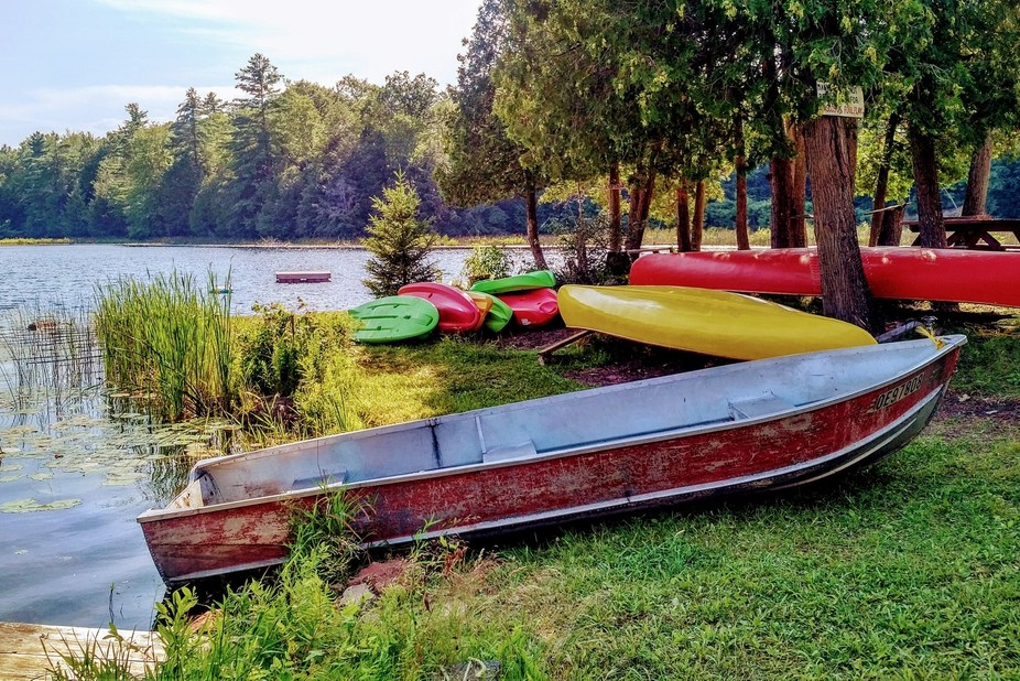 """Ontario, Canada's cottage country has many hidden surprises! This little """"unnam..."""