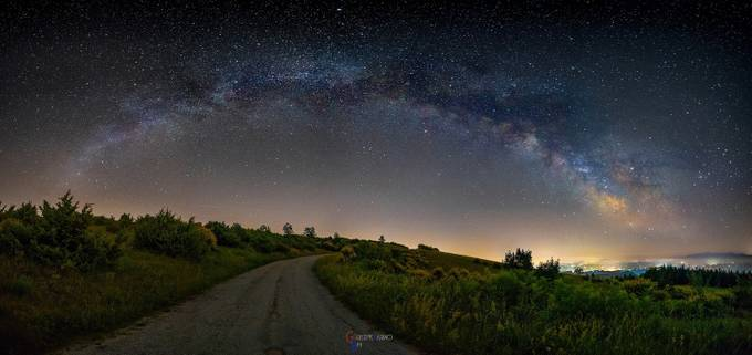 The hill of the brooms by Giuseppebarino - The Milky Way Photo Contest