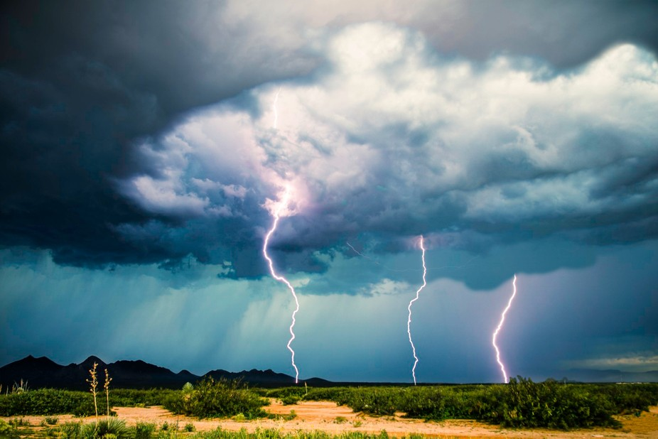 This shot was actually taken from my back yard. It is three separate images, all shot during the ...