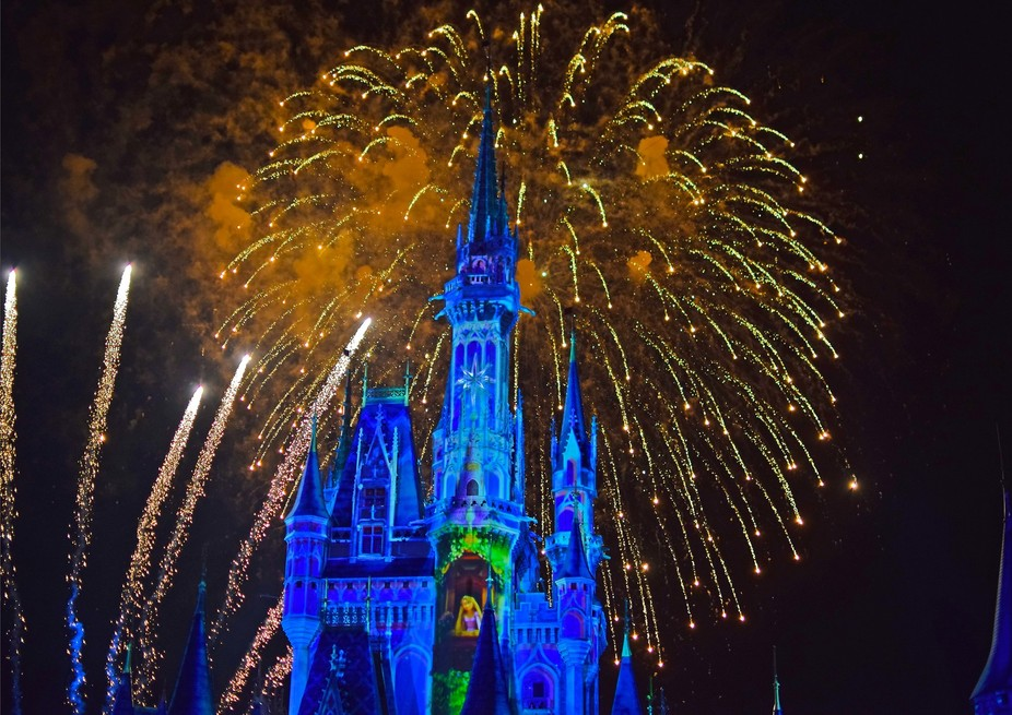 Happy ever after fireworks at Disney world