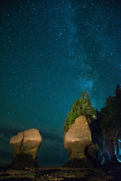 Night Sky at Hopewell Rocks