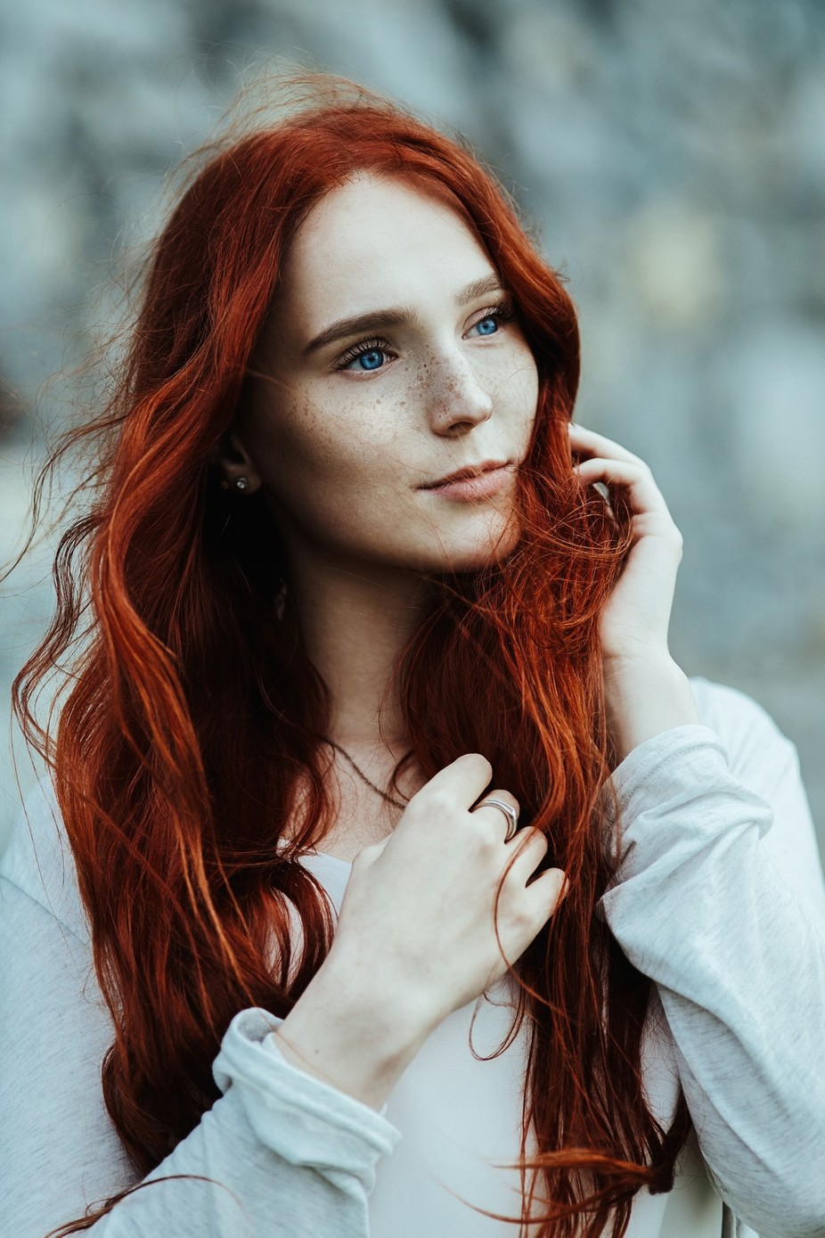 Irish sensuality in fiery hair and a soul full of freedom by TengyArts - Red Hair Photo Contest