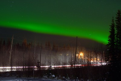 Light Trails and Northern Lights