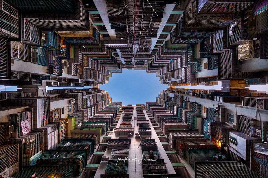 Macau is one of the densest cities on earth in terms of population and one simply has to look up ...