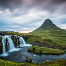the famous and impressive Mount Kirkjufell in the South-West of Iceland
