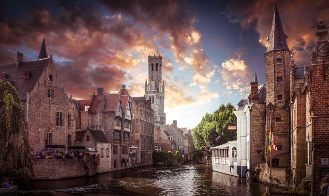 Brugge Belgium Sunset by Throughmycanon - Social Exposure Photo Contest Vol 12