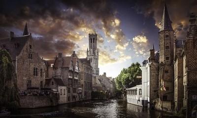 Brugge Belgium Sunset