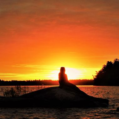 Sunrise on the Rainy Lake Mermaid, Ontario, Canada Nikon Coolpix 6500