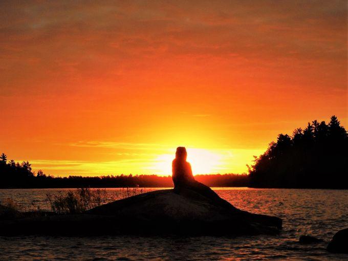 Sunrise on the Rainy Lake Mermaid, Ontario, Canada Nikon Coolpix 6500