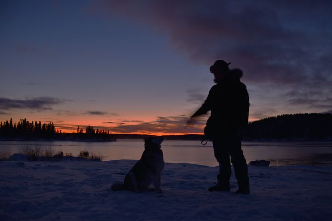Man and his Dog by BorisToronto - Towns In The Winter Photo Contest