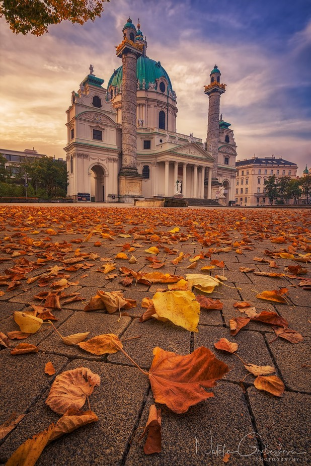 Karlskirche in Autumn by tiger_in_teapot - Covers Photo Contest Vol 42