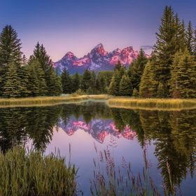 On a cold quiet calm morning we woke up to catch the milky way after which we headed out to Schwabacher's landing at Grand Teton National Pa...