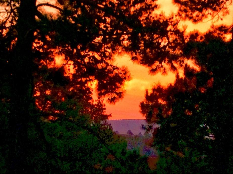 Spectacular sunrise this morning.