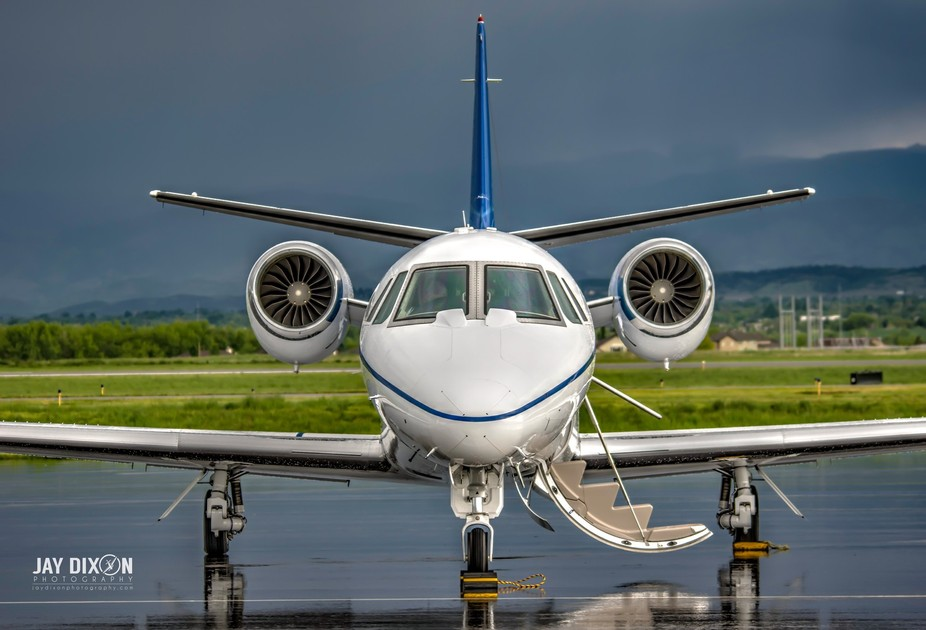 Wheels Up Private Jet After a Storm