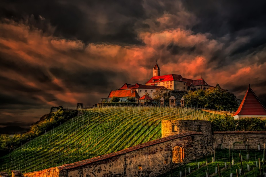 Riegersburg Castle in Styria in southern Austria is one of the best preserved medieval castles fr...