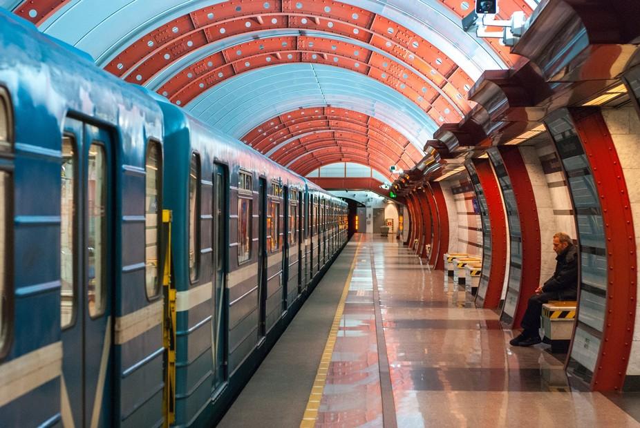 """Obvodny kanal"" metro station, Saint Petersburg, Russia"