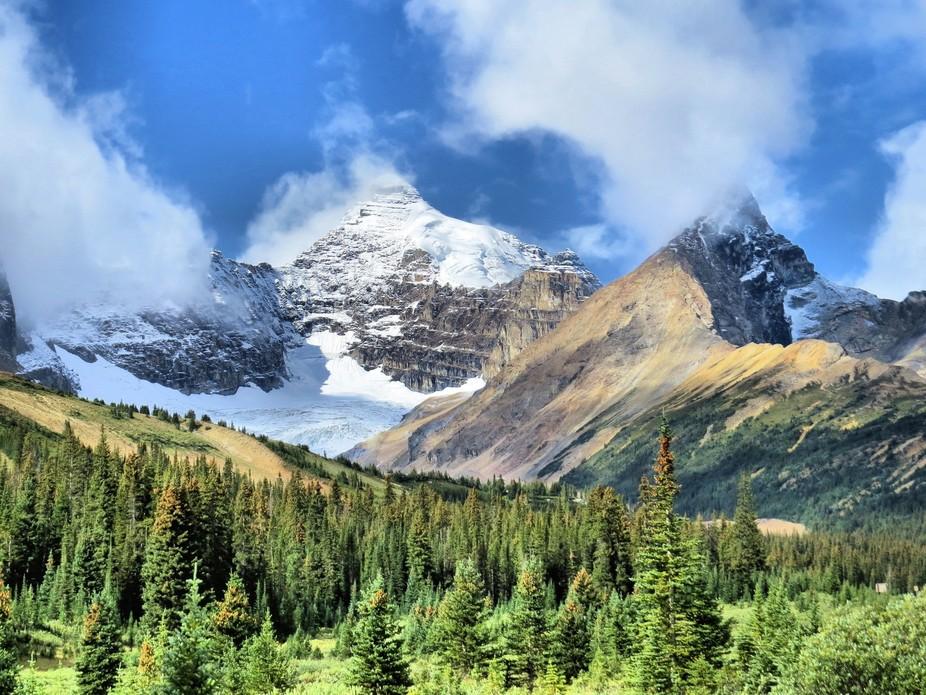 Mountains near Jasper Alberta Canada