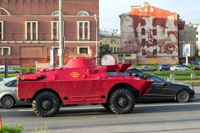 BRDM-taxi. Saint-Petrsburg, Russia