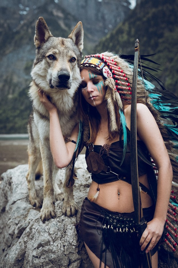 Beauty & the Wolve by Marogg - People And Animals Photo Contest
