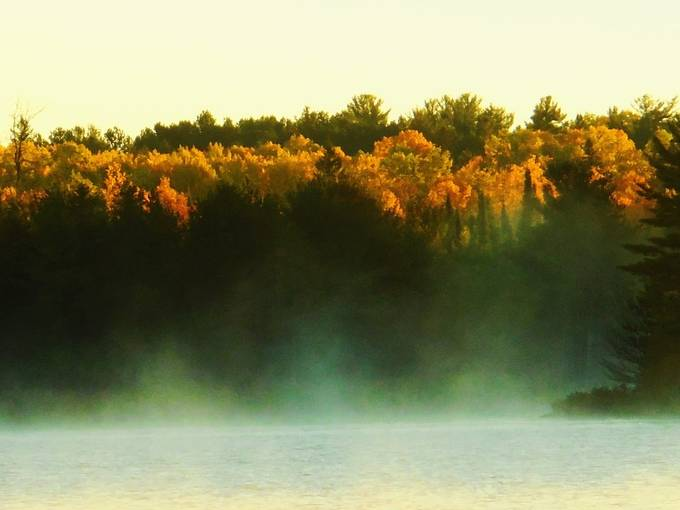 Taken from Voyageurs National Park Visitors Center International Falls, Mn. Overlooking Black Bay. Nikon Coolpix 6500