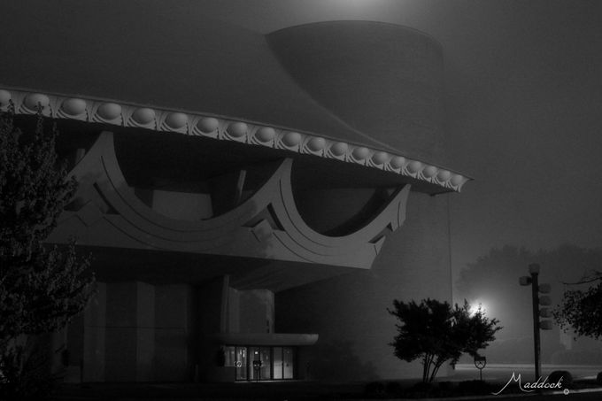 BCC Moon&Fog B&W by wemco2 - Fog And City Photo Contest