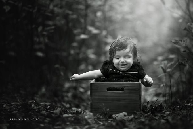 Forest baby by KellyALongphotography - Babies In Black And White Photo Contest