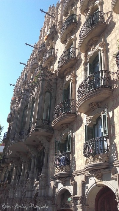 Building in Barcelona, inspired by Guadi. August 2017.