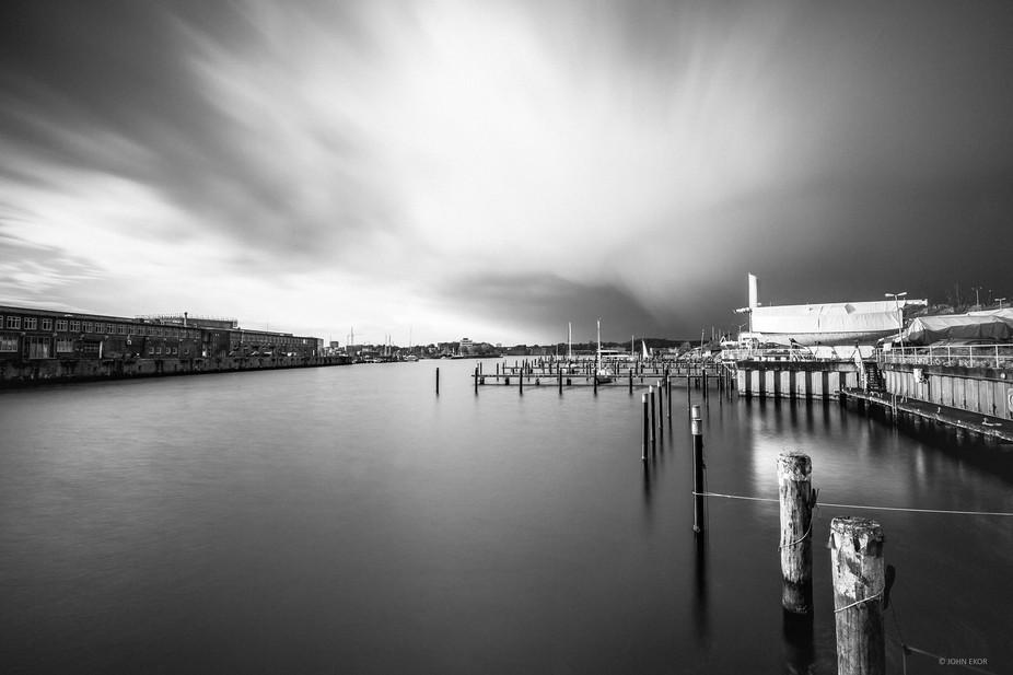 A dockyard view of Kiel Germany