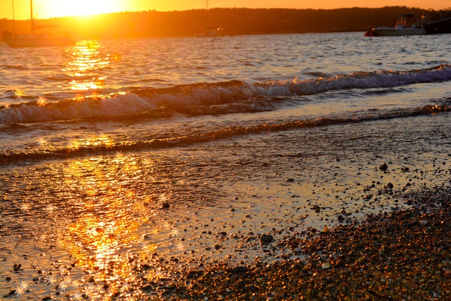 This image was taken at Niles Beach in Gloucester Massachusetts also known as Mother's b...