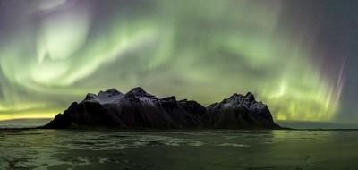 Vestrahorn under Aurora attack