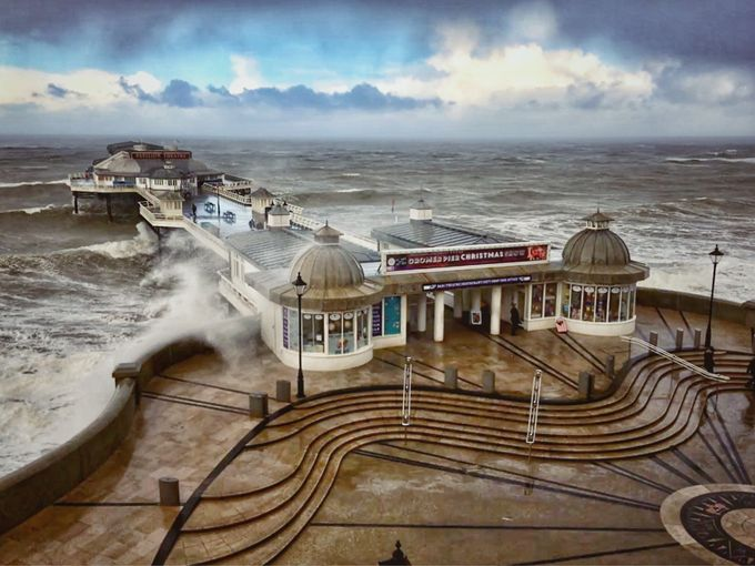Inclement weather at Cromer Pier  by robertjamesryder - Promenades And Boardwalks Photo Contest