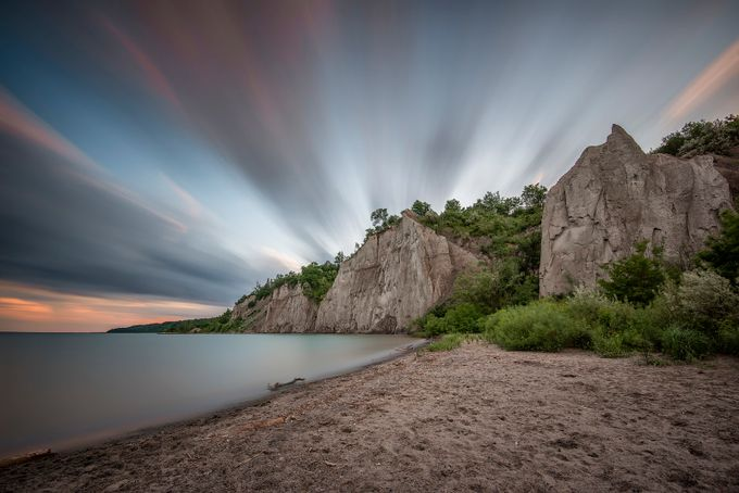 Sunset at Scarborough Bluff's by angie_1964 - Landscapes And Sand Photo Contest