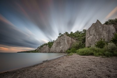 Sunset at Scarborough Bluff's