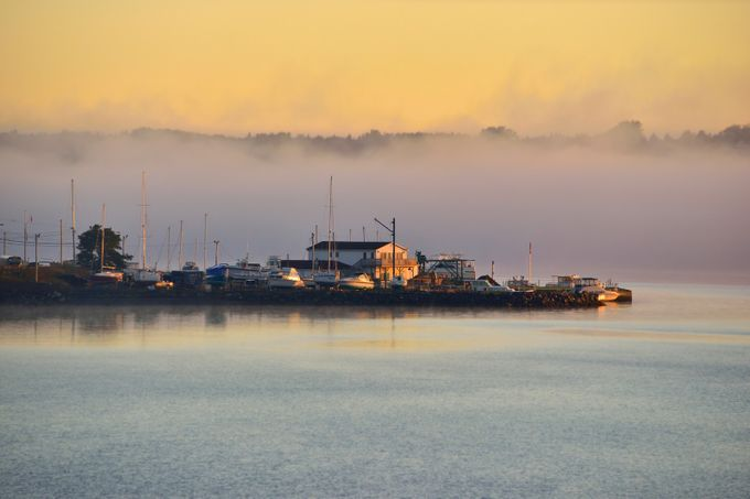 foggy morning in the lagoon by susel - Fog And City Photo Contest