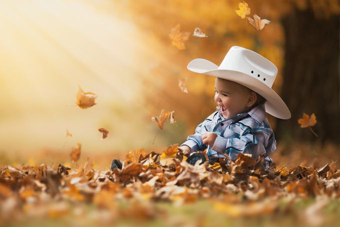 Golden Cowboy by Julieweiss - Babies Are Cute Photo Contest
