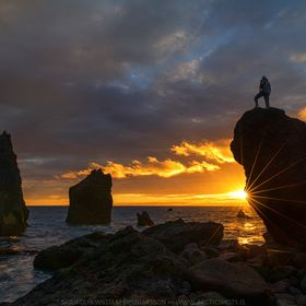 Just had to do a selfie during the amazing sunset I got by Valhnukar on the Reykjanes peninsula the other day... =)