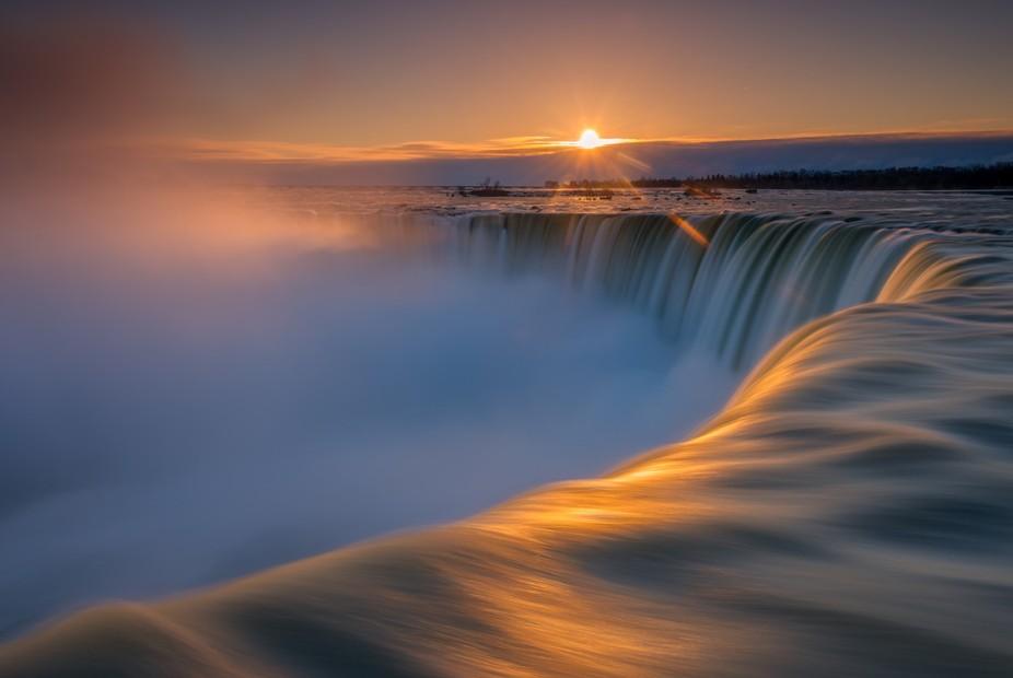 Beautiful sunrise taken from Niagara Falls.