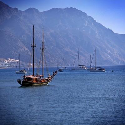 Near by of the port of Kardamena. The Island Kos,.Greece.