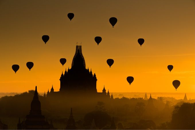 Ancient Bagan by MyatMin - Show Balloons Photo Contest