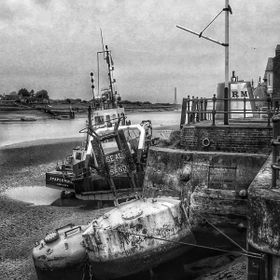 The Quay at low tide, River Great Ouse in King's Lynn.