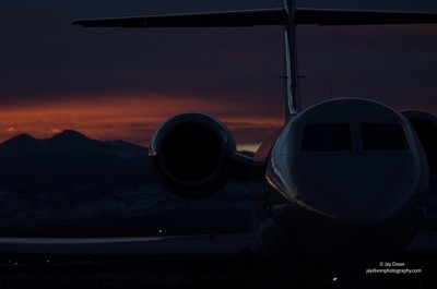 Gulfstream and a Sunset